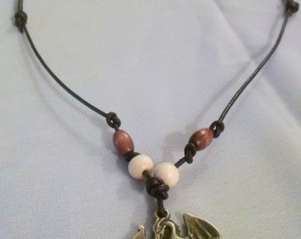 Leather Dragon Necklace