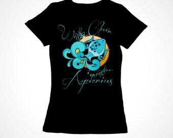 Aquarius Girls Zodiac Astrology Tee