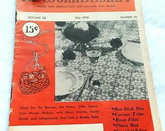 July 1955 The Workbasket Magazine ReTrO Pattern Booklet