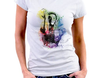 PRINCE - Cotton white T-shirt for woman fan of the famous singer - Tshirt • 030