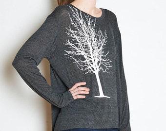 Single Tree Boxy Long Sleeve Tee