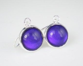 Deep Violet Blue Nail Polish Earrings Let's Talk Nail Polish Jewelry