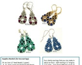 Beading Tutorial - Miss Maya Earrings - Right Angle Weave