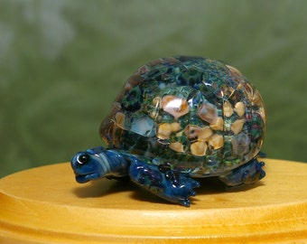 Meditation Tortoise Sculpture - by Cleo Dunsmore Buchanan 10 figurine glass collectible