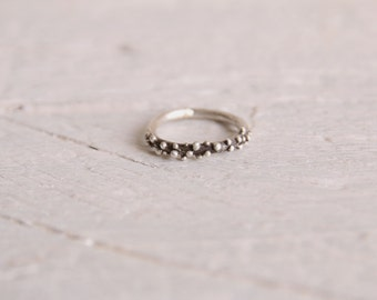 Sterling dot ring-Bubble ring-Stackable ring-Minimalist ring-Dainty jewelry -Granulated ring-Valentines gift-Silver band