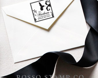 Return Address Stamp - Hummingbird Stamp - Hummingbird Address Stamp - Custom Stamp