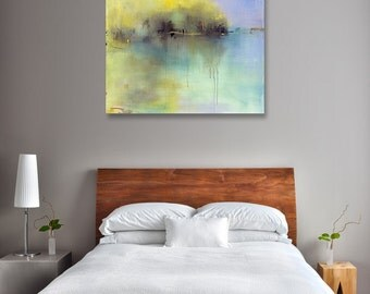 Minimalist Abstract Landscape Canvas Print, Large Giclee Print, Fine Art Print, Coastal, Coastal Decor, New England, Interior Design