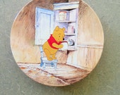 Vintage Tin, Winnie the Pooh Tin, Disney Tin, Metal Lidded Container, Lithographed Tin, Huntley Palmer's Biscuits Tin, Disney Pooh