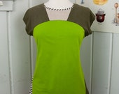 Brownie Points Color Block UPCYCLED Ladies Fitted T-Shirt, size md/lg