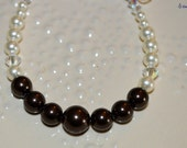 Chocolate Cream Swarvoski Pearl Bracelet, Gift for wedding party, bridesmaid, maid of honor, jewelry, gift for her, mother of the bride gift