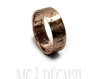 6mm Rose gold 10K Ring band, 1 engraving included, solid 10K gold ring, personalized wedding ring band, coordinate ring gold