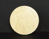 Glittered 4 Inch Round Lightweight Cork Coasters with Waterproof Sealer, Set of Four
