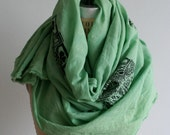 Reserved for Judy,  Celtic Cross Scarf, Green, Irish , Ireland