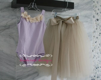 champagne child tutu with lavender top, tutu skirt for girls,  newborn tutu, Tutus Chic, Newborn photography Props, tutu, birthday tutu