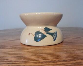 Vintage pottery planter crock spittoon