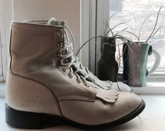Creamy Riding Boots US 5