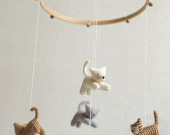 baby mobile - KITTEN mobile - CAT mobile - crib mobile - ceiling mobile