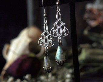 Clearance Item 30% Off Into the Otherworld Silver Labradorite Earrings