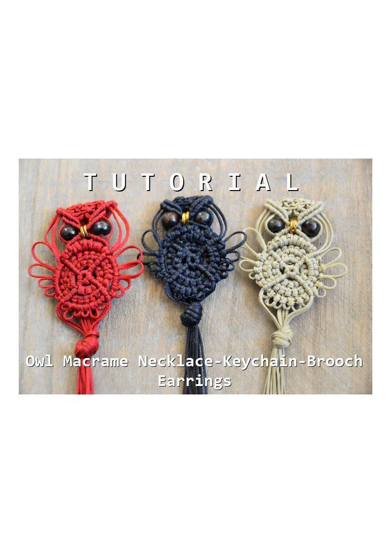 Tutorials On Eye Makeup: Macrame Owl Tutorial / Macrame Owl Pattern / Macramedamare