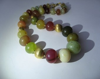 Colors Of Fall Jade In 14K Gold Filled Sterling Silver Necklace