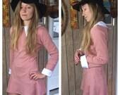 Suzy Bishop /// Peter Pan Collar Shift Dress /// Pink