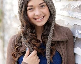 Crochet Pixie Hat for Women / Women's Pixie Hat / Women's Fashion / Womens Hat / Gnome Hat / Fall Fashion / Crochet Hood / Halloween Costume