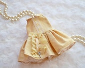 BLYTHE Dress  *Key to my Heart* in Butter and Cream Silk  by Sweet Petite Shoppe