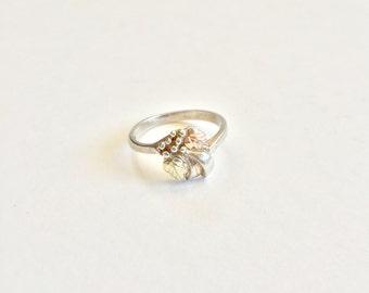 Vintage Coleman Co Black Hills Gold Sterling Ring Sz 6 1/2
