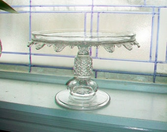 Antique Victorian Glass Cake Stand
