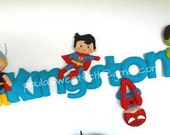 Super heroes sign (name banner)
