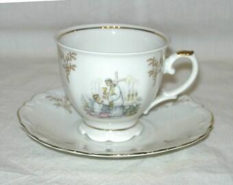 Vintage First Holy Communion Cup & Saucer Set Bavaria Germany Catholic Church Keepsake German Porcelain Teacup