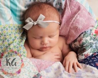 School Girl Bow - Baby Headband - Newborn Headband - Fall Headband - Baby Girl Headband - Baby HairBows - Newborn Baby Headband - Baby Girl