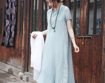 Mint Bridesmaid Dress, Dusty shale Bridesmaid dress, Layered Linen Dress,, Wedding dress, Fairy, Dreamy, Formal dress, Prom dress