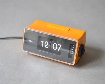 Phase 2 Braun flip clock 4934, flip clock orange, Braun clock, Braun alarm clock
