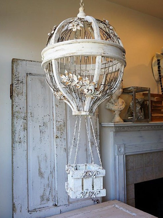Hanging Hot Air Balloon Birdcage Home Decor By