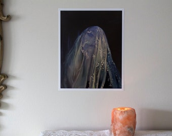 "The Flesh of Midnight • 11x14"" digital print by Amalia Kouvalis"