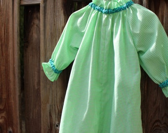 Anne of Green Gingham Tunic, 2T Dress