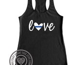 Police support tank top shirt, Police wife mom sister girlfriend tank top, LEO love tank, Thin Blue Line tank, I love my Police officer gift