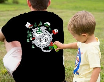Christmas In July Special T-Shirt For Dad Holiday Race Track Road Map Shirts Gift for Grandpa Fathers