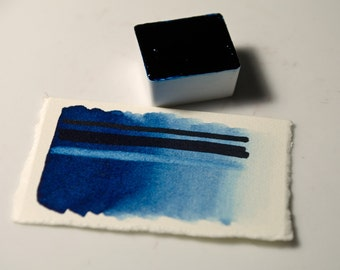 Prussian Blue Handmade Artist Watercolour Paint Schmincke Half-pan