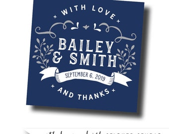 Rustic Wedding Stickers Labels Favor Custom Sticker