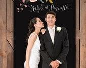 Personalized Wedding Photo Backdrop 4x7' Vinyl for Unique Wedding Reception Decor or Photo Booth - The Elizabeth