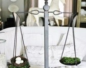Scales of Justice Metal Industrial Farmhouse Decor Vintage Scale Fixer Upper Decor