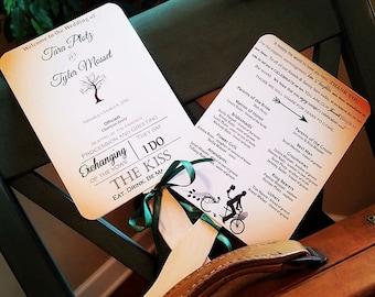Paper Fans - Tree Wedding Programs - Wedding Program Fans - Wedding Program - Wedding Fans - Outdoor Wedding Programs - Alternative  Program