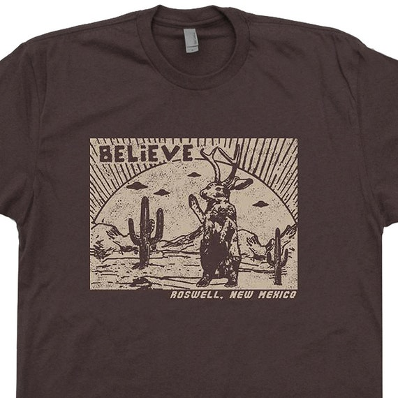 Roswell Jackalope T Shirt UFO Shirts New Mexico