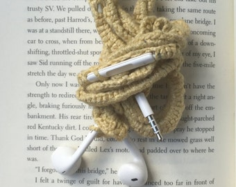 Ribbon Crocheted Apple earbuds w/remote & mic