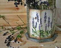 Wooden storage box,Lavender, Vintage style, Storage basket, candy box, Kitchen accessories, Rustic style, Fruit vegetables trug