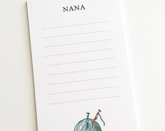 Gift for Knitter, Personalized Knitting Notepad, Knitter Gift, Knitting Accessories, Customized Note Pads, Knitting Club Gift