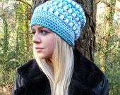 SKY FALL CROCHET Hat Pattern  Slouch hat pattern, Womens hat pattern, Pom pom crochet hat pattern Slouch Beanie crochet pattern Hat pattern
