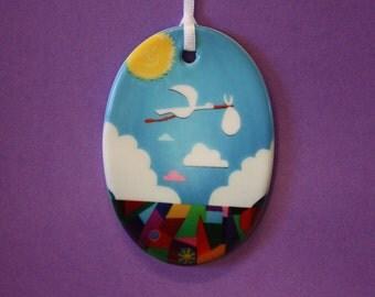 Disney Pixar UP inspired ceramic Nursery ornament decoration